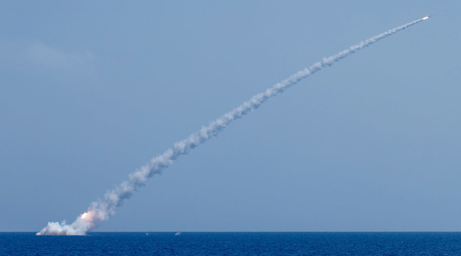 Russian submarine hits terrorist targets in Syria