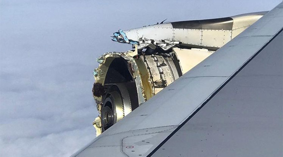 Air France flight with engine damage makes emergency landing