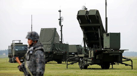 A Japan Self-Defense Forces (JSDF) soldier takes part in a drill to mobilize their Patriot Advanced Capability-3 (PAC-3) missile unit in response to a recent missile launch by North Korea  © Issei Kato