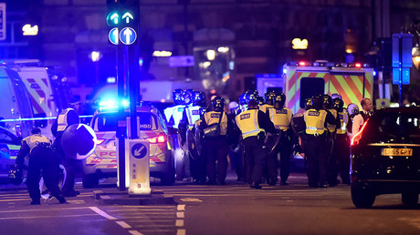 Police attend to an incident on London Bridge in London, Britain, June 3, 2017. © Hannah McKay