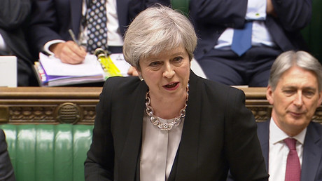 Britain's Prime Minister Theresa May addressing the House of Commons in central London © Reuters