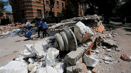 Mexico quake: Moment buildings collapse caught on camera (VIDEOS)