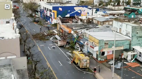 Streets of San Juan strewn with wreckage as Hurricane Maria hits Puerto Rico
