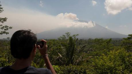 Thousands evacuated as Bali volcano spews ominous smoke 3,000 meters high