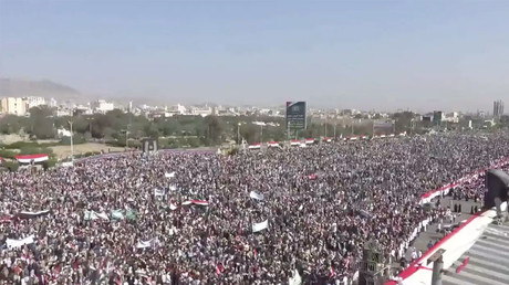 Houthis celebrate 3 years of control in Yemen capital