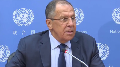 Lavrov speaks with press in NYC