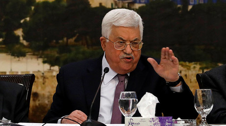 Palestinian President Mahmoud Abbas speaks during the meeting of the Palestinian Central Council in the West Bank city of Ramallah January 14, 2018 © Mohamad Torokman