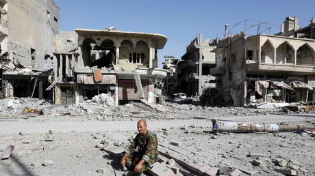 Syrian Democratic Force fighter in Raqqa after it was liberated from Islamic State © Erik De Castro