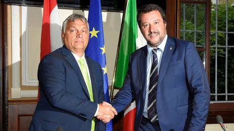Hungarian Prime Minister Viktor Orban and Italian Interior Minister Matteo Salvini © Massimo Pinca
