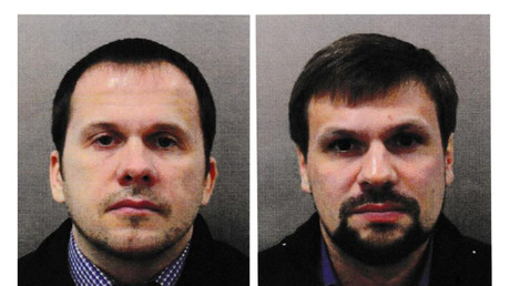 'Alexander Petrov' and 'Ruslan Boshirov', are seen in an image handed out by the Metropolitan Police in London, Britain September 5, 2018