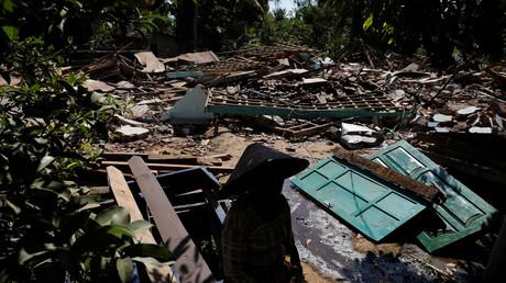File photo: Aftermath of earthquake in North Lombok, Indonesia, August 7, 2018. © Beawiharta Beawiharta