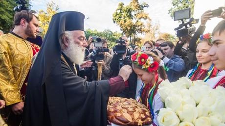 Patriarch Theodore II of Alexandria meets people in Odessa, Ukraine. © eparhiya.od.ua