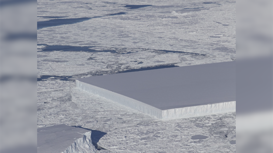 NASA�s sea ice survey captures bizarre, perfectly rectangular iceberg (PHOTO)