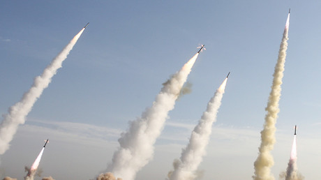 FILE PHOTO: Iran's Revolutionary Guards fire missiles during a war game © Fars News (IRAN)