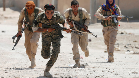 Kurdish fighters from the YPG militia. © Goran Tomasevic/Reuters