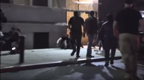 Screenshot from a YouTube video depicting the alleged attack by right-wing Young Boys group on a antifaschist protester © YouTube / Sandi Bachom