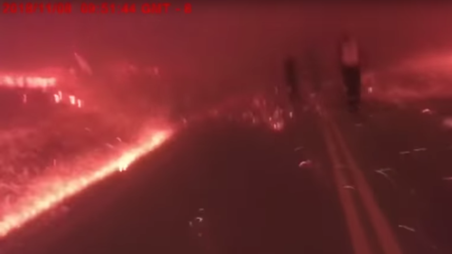 Paradise lost: Terrifying bodycam VIDEO shows desperate escape from deadly Camp Fire