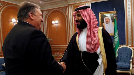 FILE PHOTO: Secretary of State Mike Pompeo meets with the Saudi Crown Prince Mohammed bin Salman © Reuters / Leah Millis