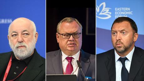 (L) Viktor Vekselberg © Sputnik / Ramil Sitdikov; (C) Andery Kostin © Sputnik / Alessandro Rota; (R) Oleg Deripaska © Sputnik / Alexander Vilf