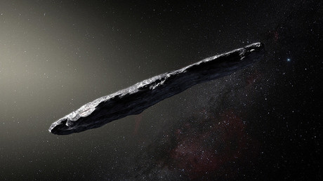 An artist's impression of Oumuama, the first interstellar object known to enter our solar system © AFP / European Southern Observatory / M. Kornmesser
