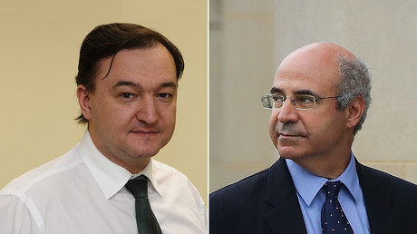 (L) Sergei Magnitsky © HO / HERMITAGE CAPITAL MANAGEMENT / AFP; (R) William 'Bill' Browder © GETTY IMAGES NORTH AMERICA / AFP / Drew Angerer
