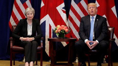 Donald Trump and Theresa May meet on the sidelines of the 73rd UNGA session. ©Reuters / Carlos Barria