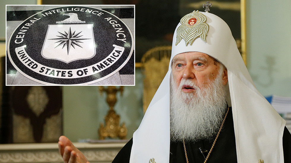 Ukraine's schismatic Patriarch bestows highest award on ex-CIA ops chief