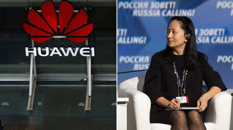 (L) Huawei offices in Auckland, New Zealand. © Reuters / Phil Noble (R) Meng Wanzhou attends the VTB Capital Investment Forum in Moscow, Russia October 2, 2014 © Reuters / Alexander Bibik