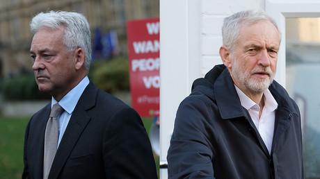 (L) Alan Duncan © REUTERS/Simon Dawson; (R) Jeremy Corbyn © Global Look Press/Vickie Flores/ZUMAPRESS.com