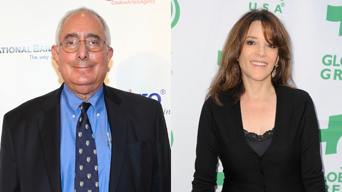 Ben Stein (Imeh Akpanudosen / Getty Images / AFP) and Marianne Williamson (Angela Weiss / Getty Images / AFP)