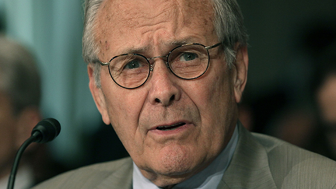 Former Defense Secretary Donald Rumsfeld (AFP Photo / Mark Wilson)