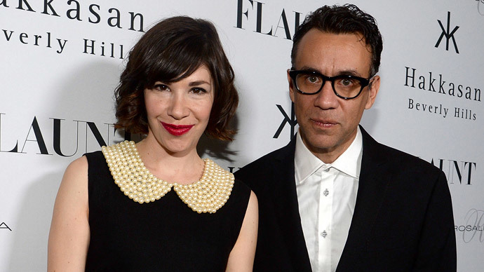 Actors Carrie Brownstein and Fred Armisen.(AFP Photo / Chris Weeks)