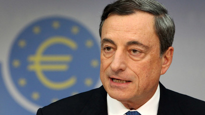 Mario Draghi, President of the European Central Bank (AFP Photo/Daniel Roland)