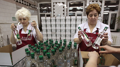Legal vodka production falls by one-third in Russia