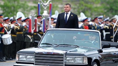 Anatoly Serdyukov during the Victory Day parade on Red Square, 2012. (RIA Novosti / Iliya Pitalev)
