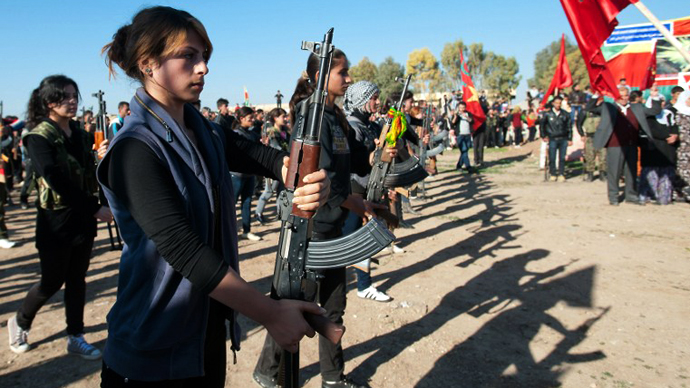 Kurdish women in Syria create first female battalion