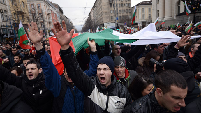 'Mafia, out of the country!': Bulgarians protest in dozens of cities across the country (PHOTOS)