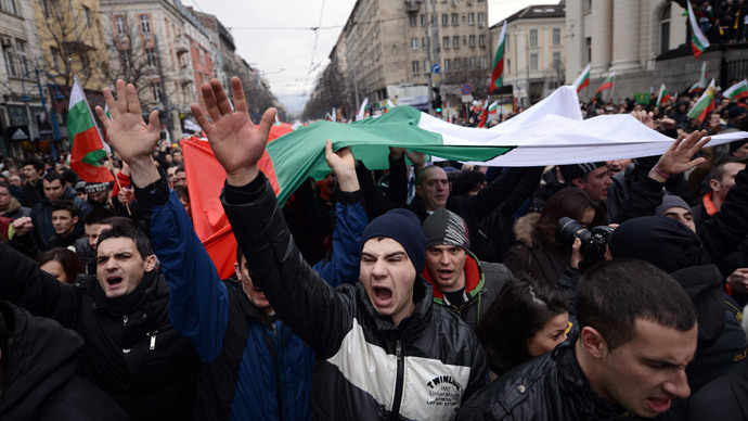 Mafia Out Of The Country Bulgarians Protest In Dozens