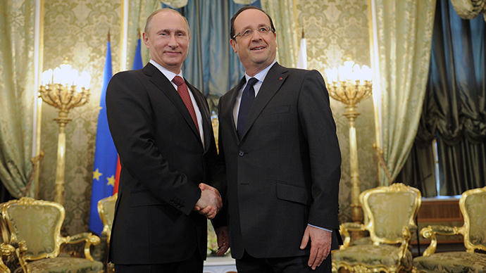 Hollande, Putin on Syria: Approach differs, goals the same