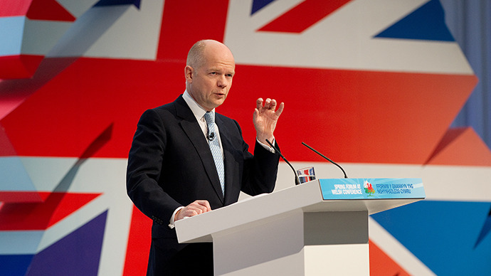 British Foreign Minister William Hague. (AFP Photo / Leon Neal)