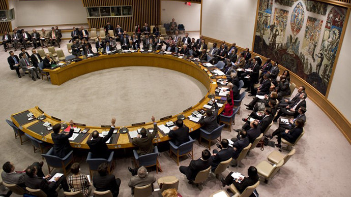 The United Nations Security Council during a meeting. (AFP Photo / Don Emmert)