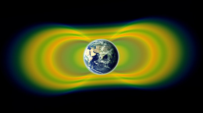 Two giant swaths of radiation, known as the Van Allen Belts, surrounding Earth were discovered in 1958. (NASA / Van Allen Probes / Goddard Space Flight Center)