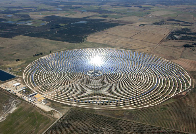 The Torresol Energy Gemasolar thermasolar plant in Fuentes de Andalucia near Sevilla. (AFP Photo / Gemasolar)