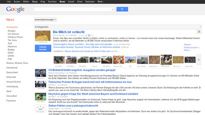 screenshot from Google News