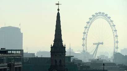 A view of the City of London (AFP Photo)