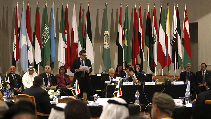 Permanent representatives of the Arab League attend a meeting at the Arab League headquarters in Cairo March 6, 2013. (Reuters / Mohamed Abd El Ghany)