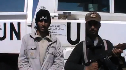 An image grab taken from a video uploaded on YouTube on March 6, 2013 by user@syriahro