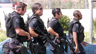 Los Angeles SWAT team members. (AFP Photo / Hector Mata)