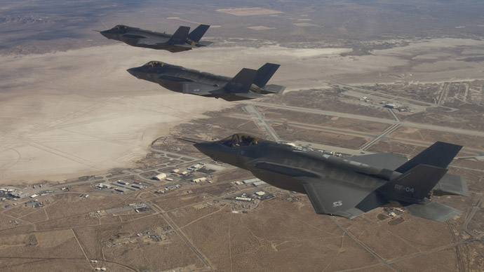 Three F-35 Joint Strike Fighters (Reuters/Lockheed Martin/Darin Russell)
