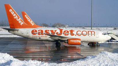 EasyJet aircraft are parked on the apron at Luton airport, north of London (AFP Photo/Max Nash)